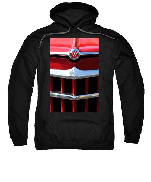 1950 Willys Overland Jeepster Hood Emblem Sweatshirt