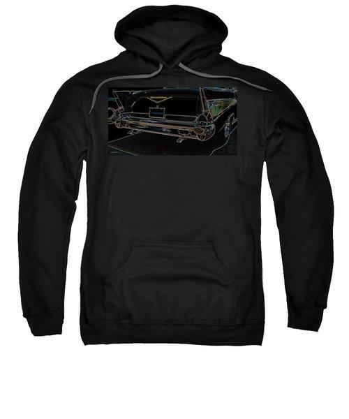 1957 Chevrolet Rear View Art Black_varooom Tag Sweatshirt