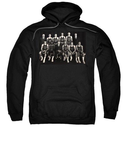 1959 University Of Michigan Basketball Team Photo Sweatshirt by Mountain Dreams
