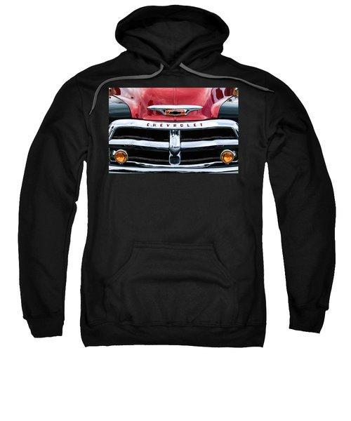 1955 Chevrolet 3100 Pickup Truck Grille Emblem Sweatshirt