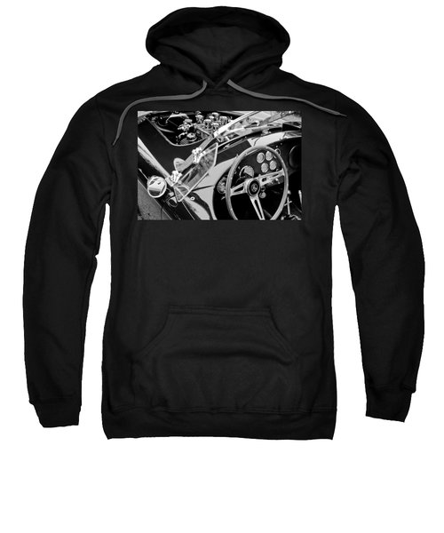 Ac Shelby Cobra Engine - Steering Wheel Sweatshirt