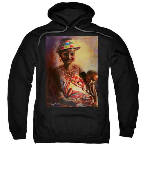 African Mother And Child Sweatshirt