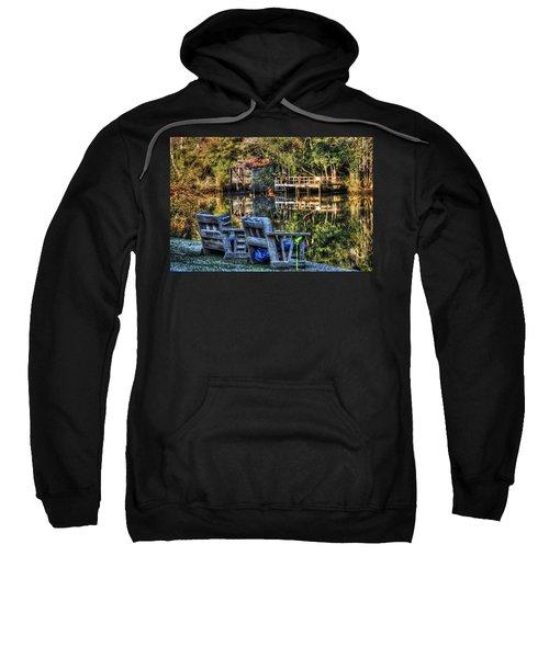 2 Chairs On The Magnolia River Sweatshirt