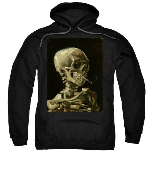 Head Of A Skeleton With A Burning Cigarette Sweatshirt