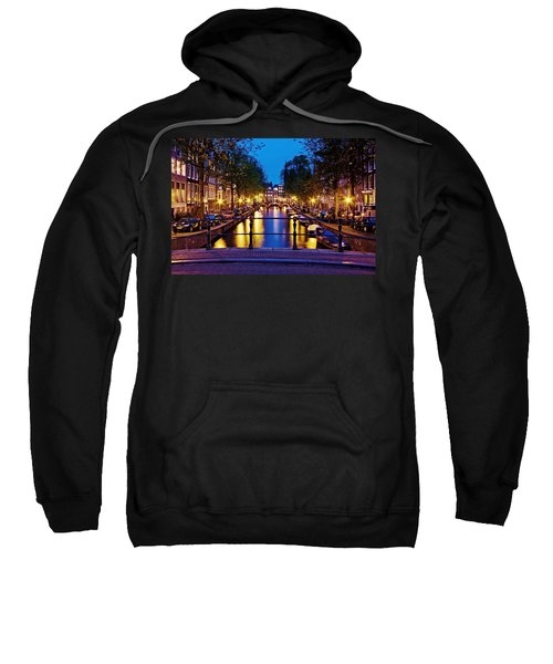 Leidsegracht Canal At Night / Amsterdam Sweatshirt