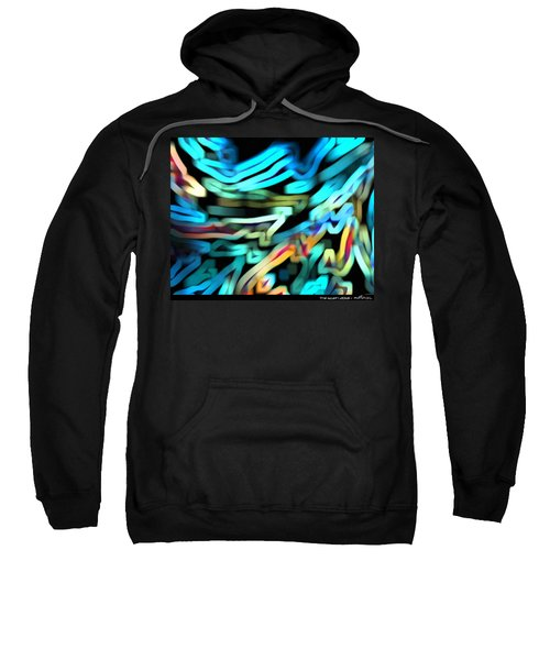 Sweatshirt featuring the digital art The Scarf by Mihaela Stancu