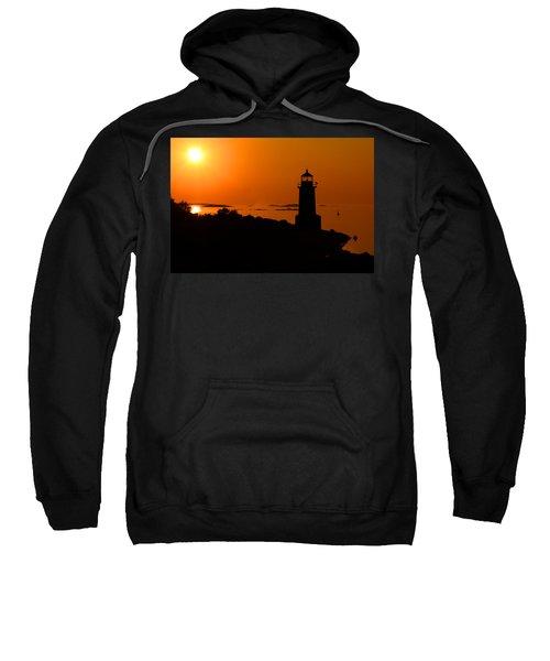 Winter Island Lighthouse Sunrise Sweatshirt