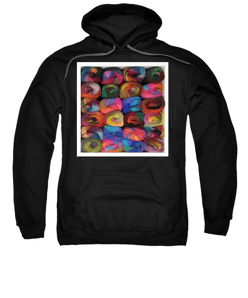 Colorful Knitting Yarn Sweatshirt