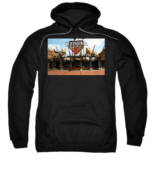 Sweatshirt featuring the photograph Comerica Park - Detroit Tigers by Frank Romeo