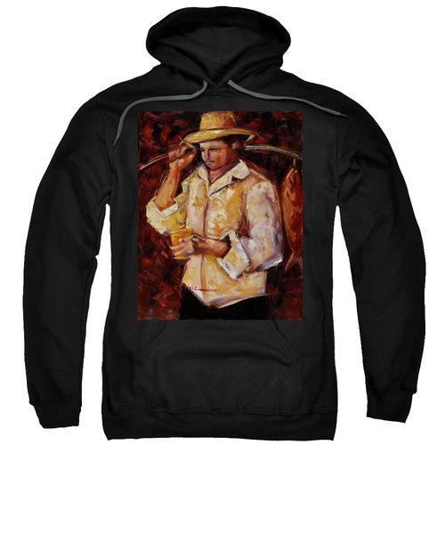 Sweatshirt featuring the painting Jibaro De La Costa by Oscar Ortiz