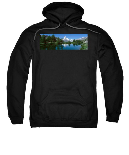 Reflection Of A Mountain In A Lake Sweatshirt