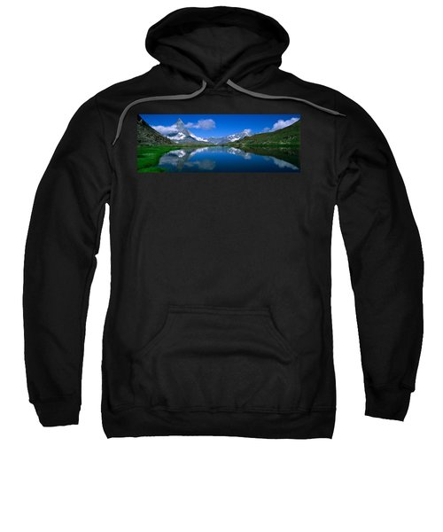Reflection Of Mountains In Water Sweatshirt
