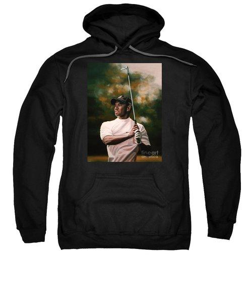 Tiger Woods  Sweatshirt by Paul Meijering