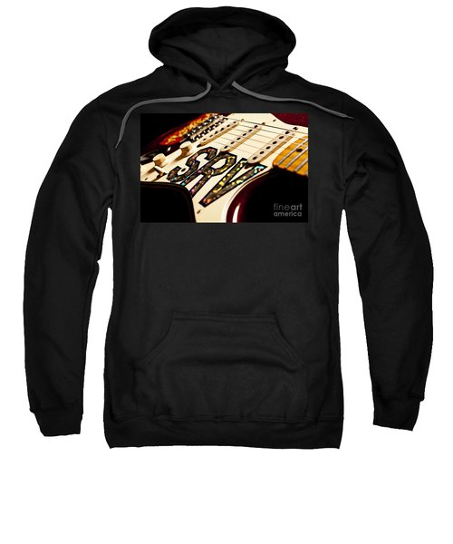 Replica Stevie Ray Vaughn Electric Guitar Artistic Sweatshirt by Jani Bryson