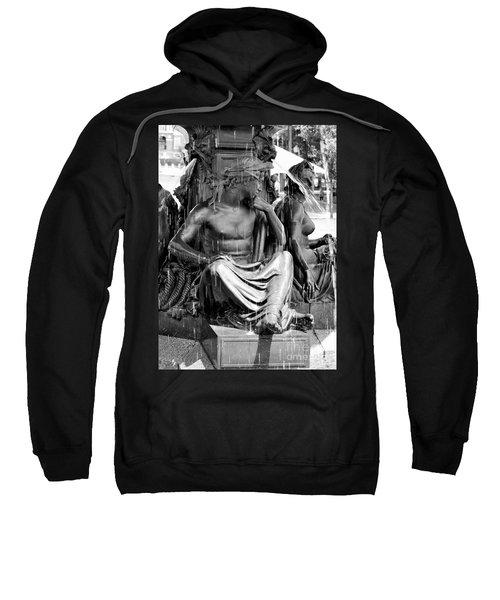 Brewer Fountain Boston Ma Black And White Sweatshirt