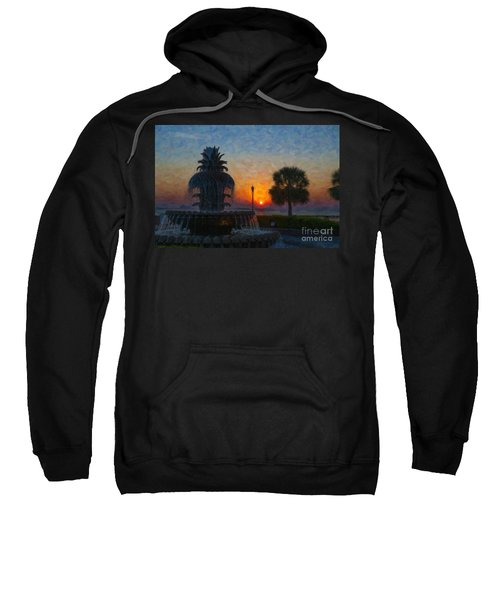 Pineapple Fountain At Dawn Sweatshirt