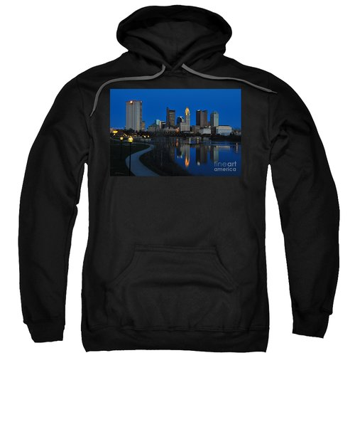 Columbus Ohio Skyline At Night Sweatshirt