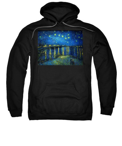 Sweatshirt featuring the painting Starry Night Over The Rhone by Vincent van Gogh