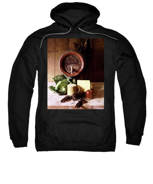 A Barrel Of Beer Sweatshirt by N. Courtney Owen