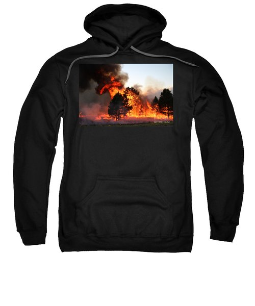 A Burst Of Flames From The White Draw Fire Sweatshirt