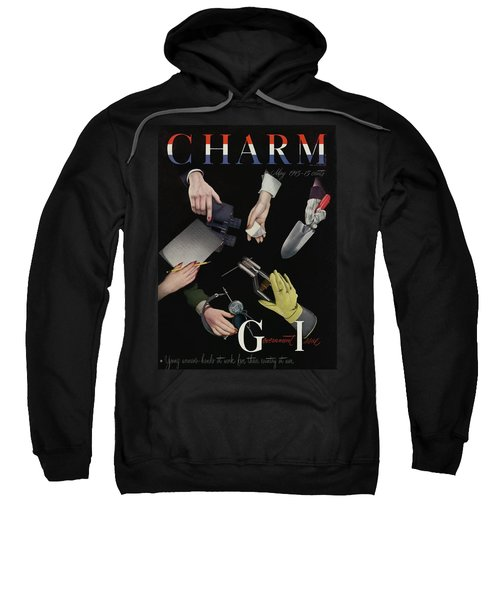 A Charm Cover Of Women's Hands Reaching For Tools Sweatshirt