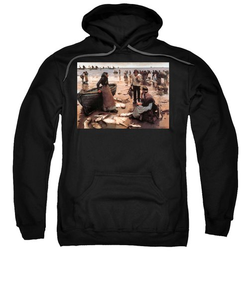 A Fish Sale On A Cornish Beach Sweatshirt
