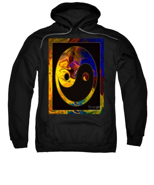 A Happy Balance Of Energies Abstract Healing Art Sweatshirt