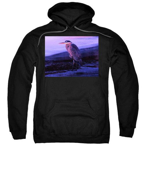 A Heron On The Moyie River Sweatshirt