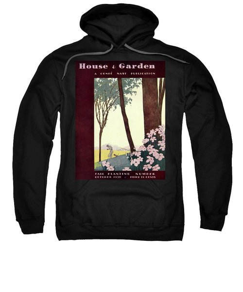 A House And Garden Cover Of A Rural Scene Sweatshirt