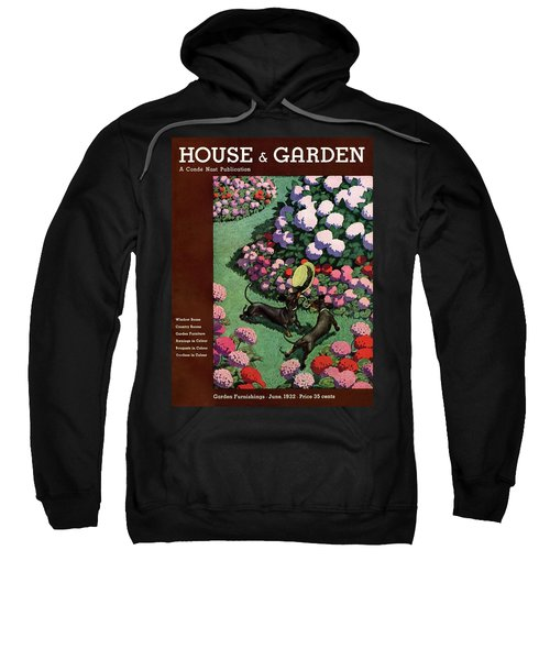 A House And Garden Cover Of Dachshunds With A Hat Sweatshirt