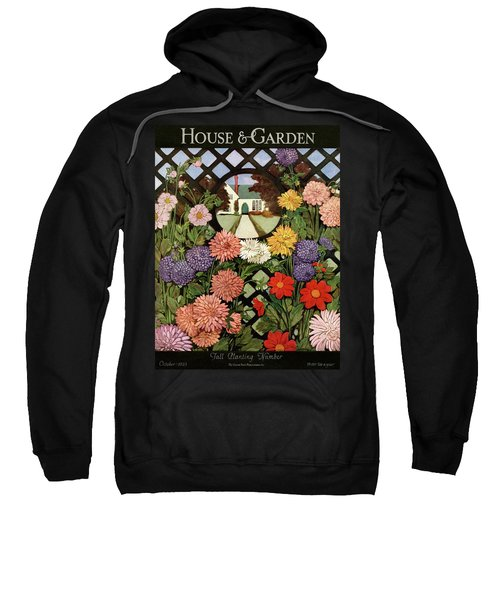 A House And Garden Cover Of Flowers Sweatshirt