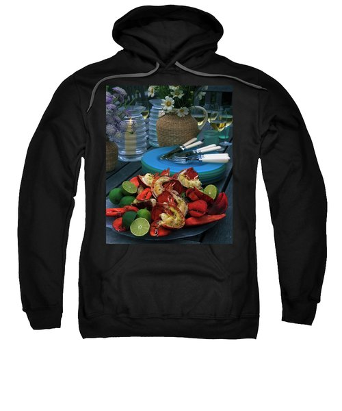 A Meal With Lobster And Limes Sweatshirt