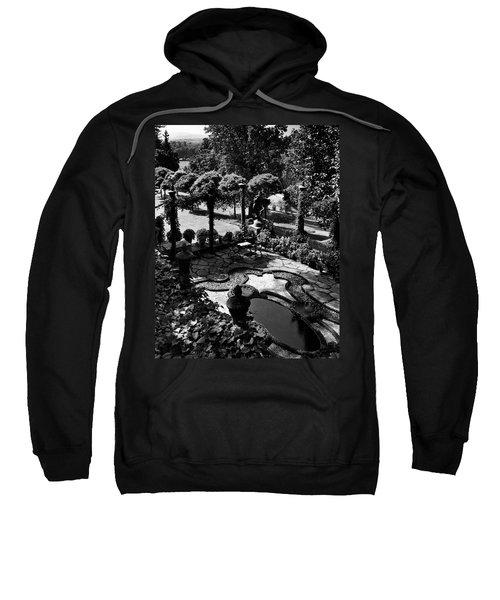 A Pond In An Ornamental Garden Sweatshirt