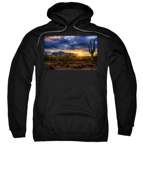 A Sonoran Desert Sunrise Sweatshirt