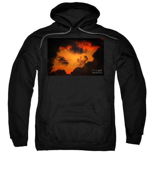 Sweatshirt featuring the digital art A Textured Morning by Kim Pate