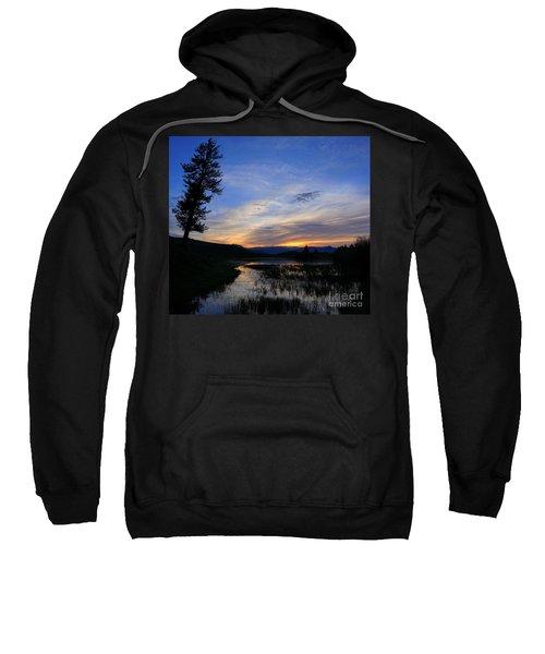 A Yellowstone Lake Before Sunrise Sweatshirt