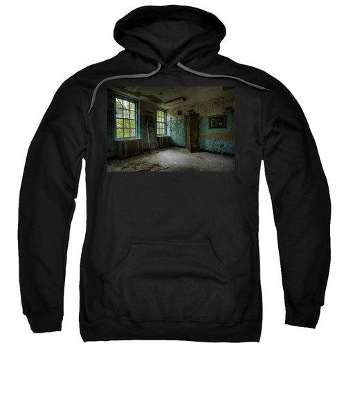 Abandoned Places - Asylum - Old Windows - Waiting Room Sweatshirt