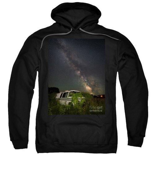 Abandoned Rv Milky Way Vertical Shot Sweatshirt