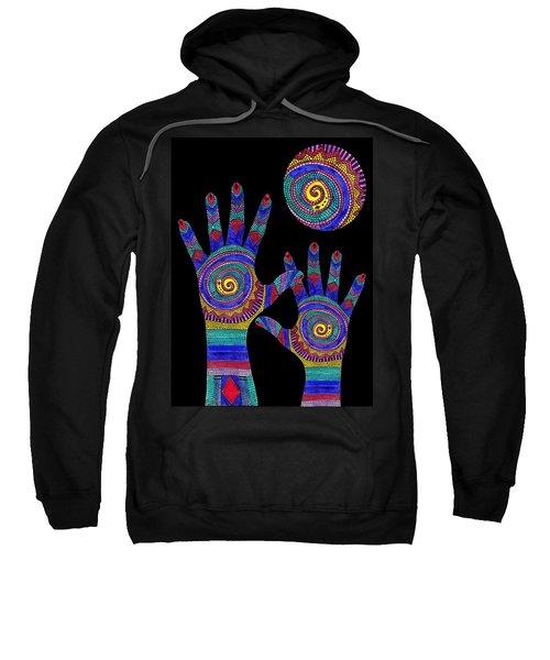 Aboriginal Hands To The Sun Sweatshirt