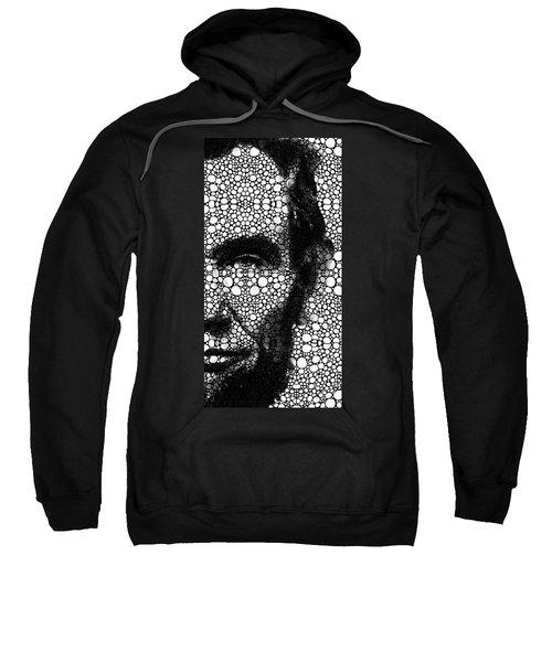 Abraham Lincoln - An American President Stone Rock'd Art Print Sweatshirt