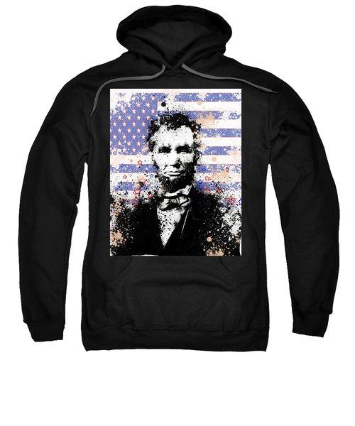 Abraham Lincoln Pop Art Splats Sweatshirt