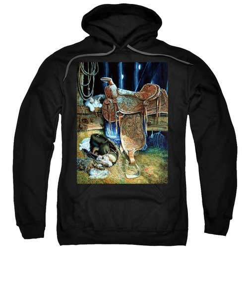 Sweatshirt featuring the painting Afternoon Delight by Hanne Lore Koehler