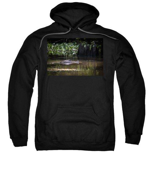 Alligator Swimming In Bayou 2 Sweatshirt