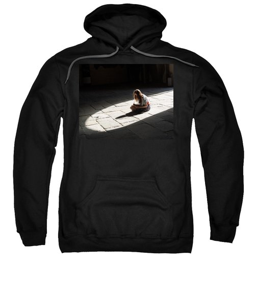 Sweatshirt featuring the photograph Alone In A Pool Of Light by Alex Lapidus