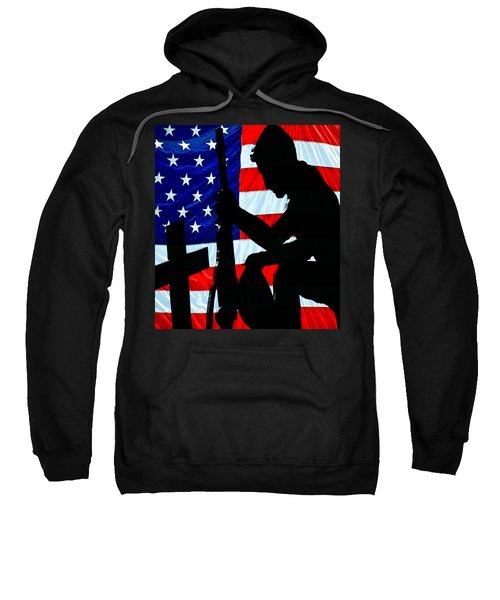 A Time To Remember American Flag At Rest Sweatshirt by Bob Orsillo