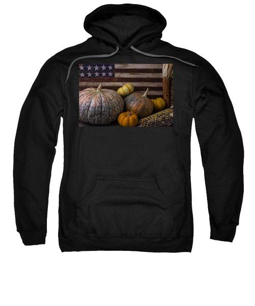 American Flag Autumn Still Life Sweatshirt