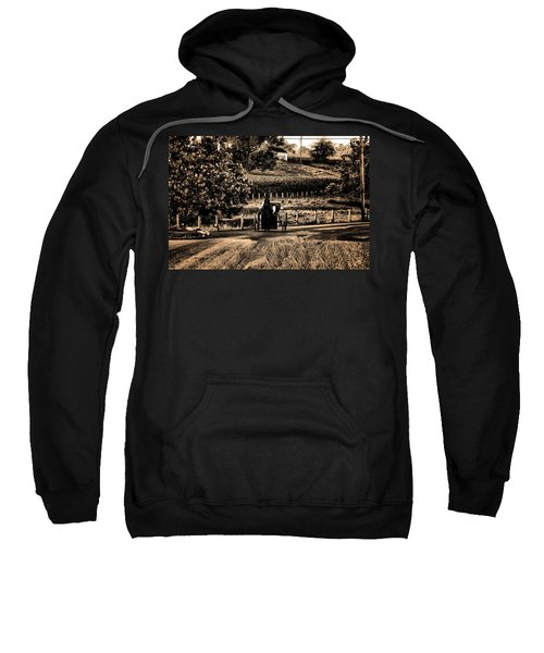 Amish Buggy On A Country Road Sweatshirt