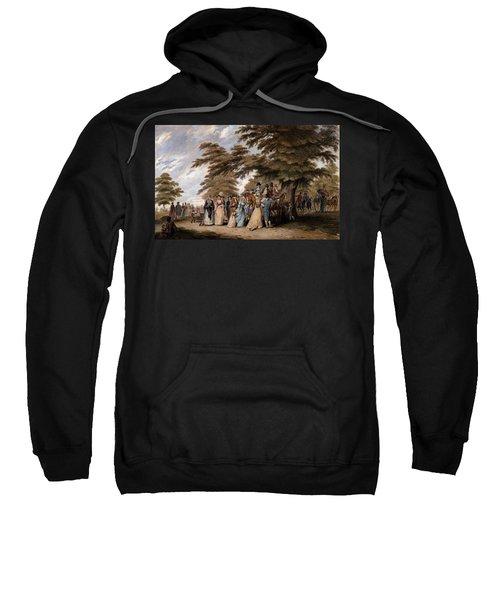 An Airing In Hyde Park, 1796 Sweatshirt by Edward Days