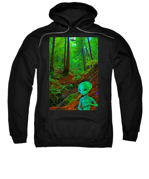 An Alien In A Cosmic Forest Of Time Sweatshirt
