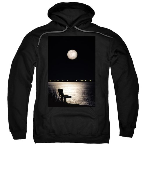 And No One Was There - To See The Full Moon Over The Bay Sweatshirt